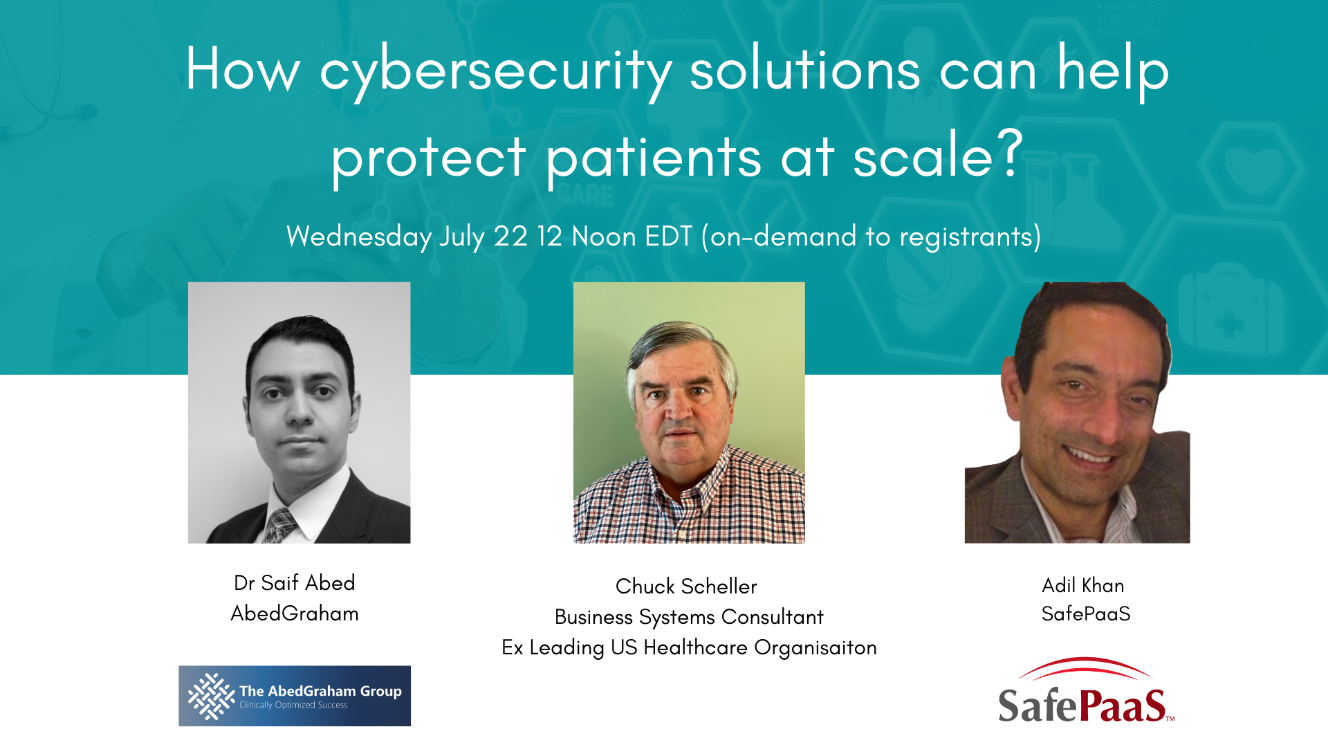 How cybersecurity solutions can help protect patients at scale?
