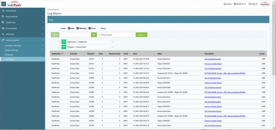 Data Audit Log