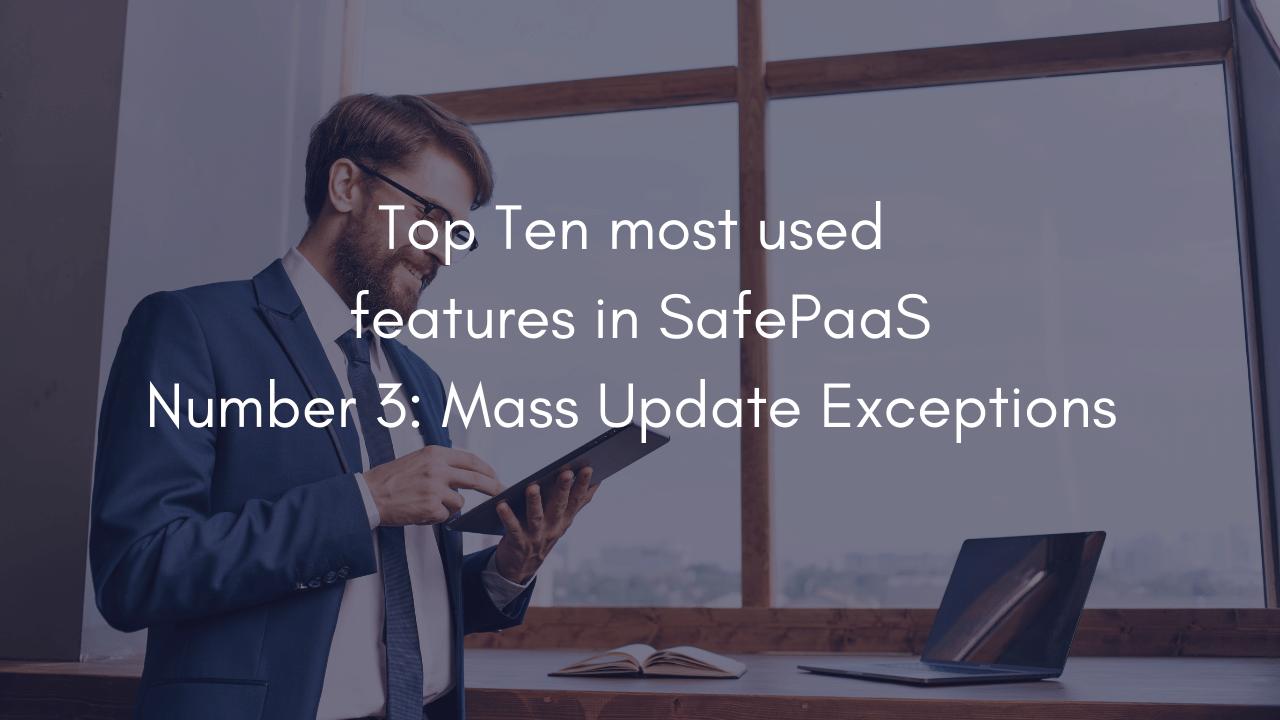 Mass Update Exceptions