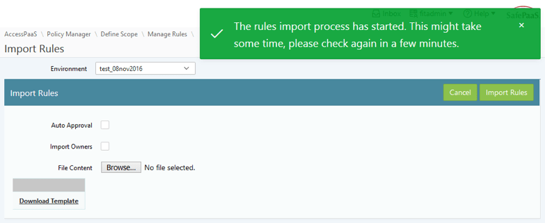 Import Access Rules
