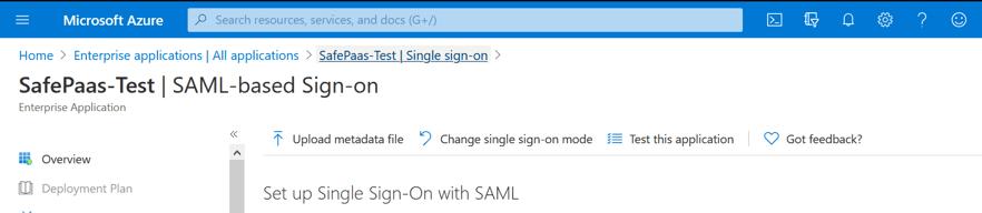 SAML Single sign-on
